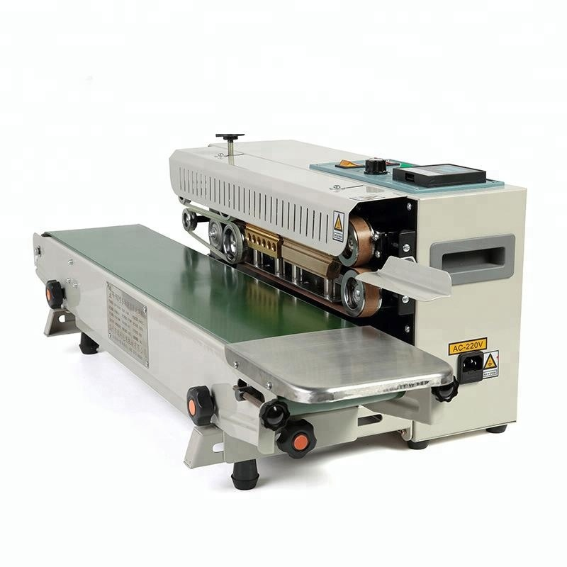 Automatic Continuous Band Heat Sealer With Printing Letters