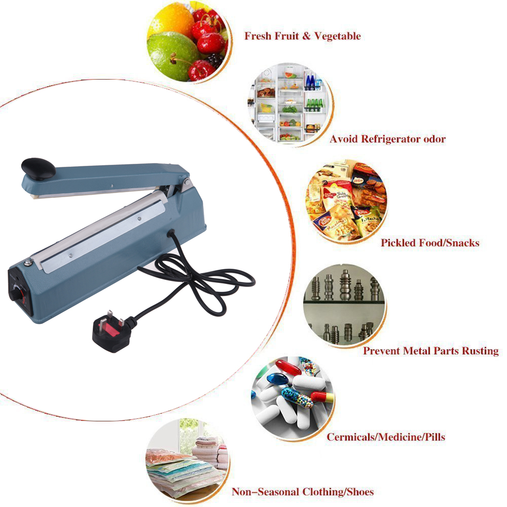 Impulse Sealer Food Bag Teflon Hand Sealing Machine FS-200