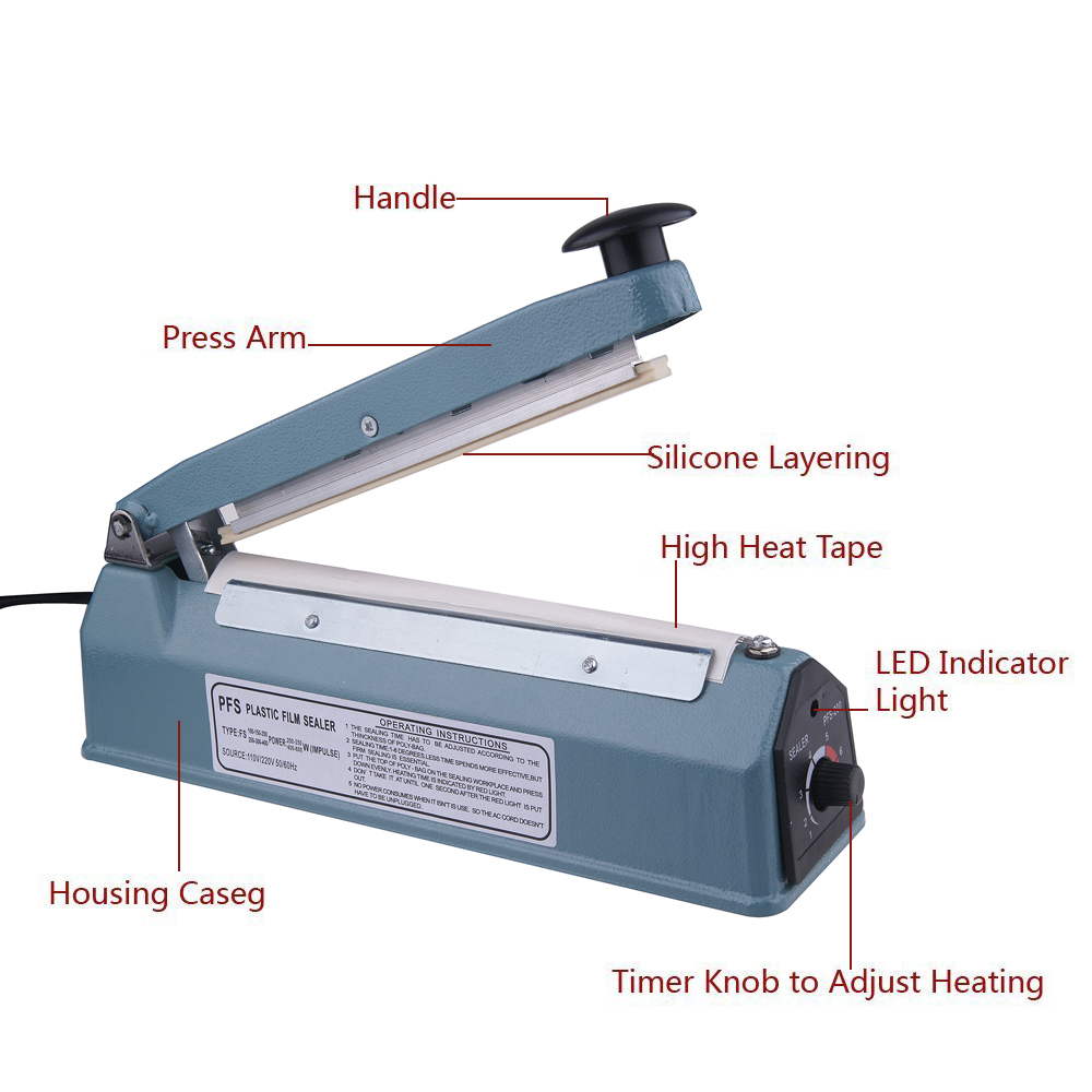 Handheld Impulse Sealers Plastic Bag Sealing Machine FS-300